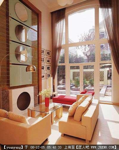 别墅客厅落地玻璃窗装修方案