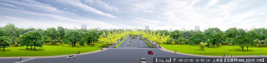 城市道路绿化效果图图片10
