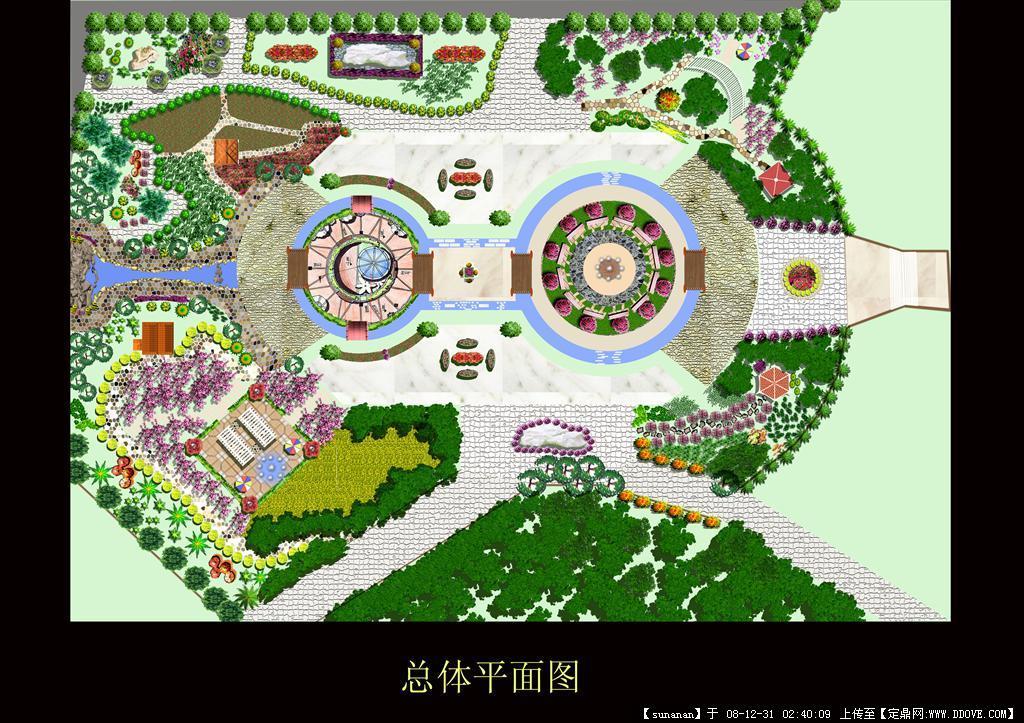 园林景观设计图(一套)-园林景观效果图.rar