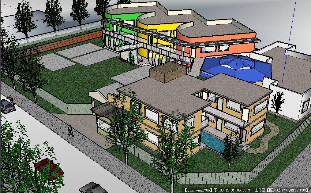 某幼儿园环境设计整体效果su模型