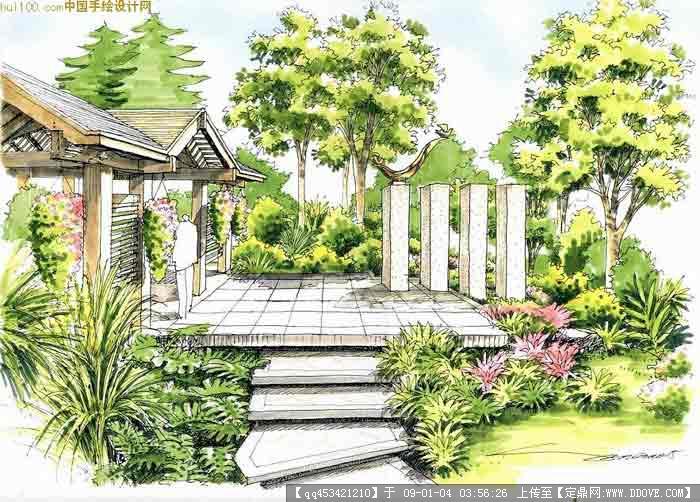 手绘效果图的图片浏览,园林效 果图,手绘效果,园林_.