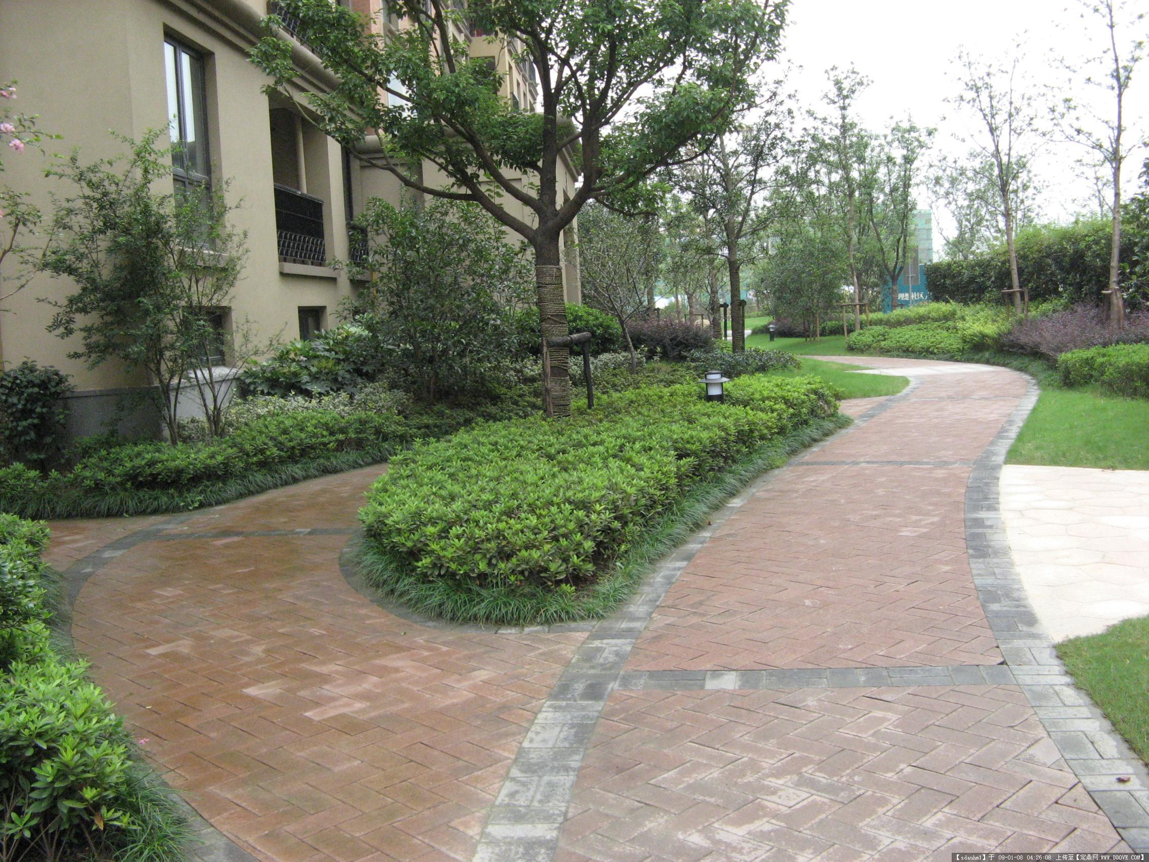 杭州翡翠城居住区景观实景照片