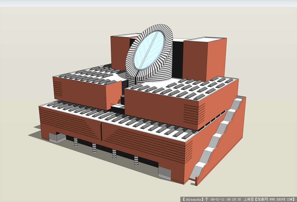 定鼎网 设计素材 三维模型 建筑模型 旧金山美术馆sketchup模型  2