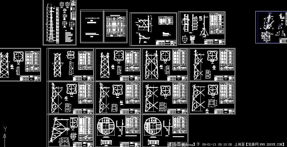 建筑施工图纸,广播电视