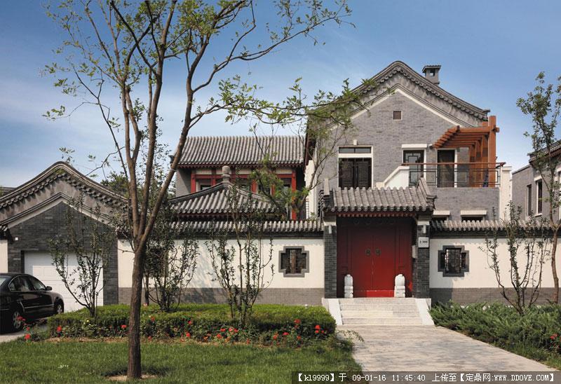观唐中式别墅实景欣赏图片