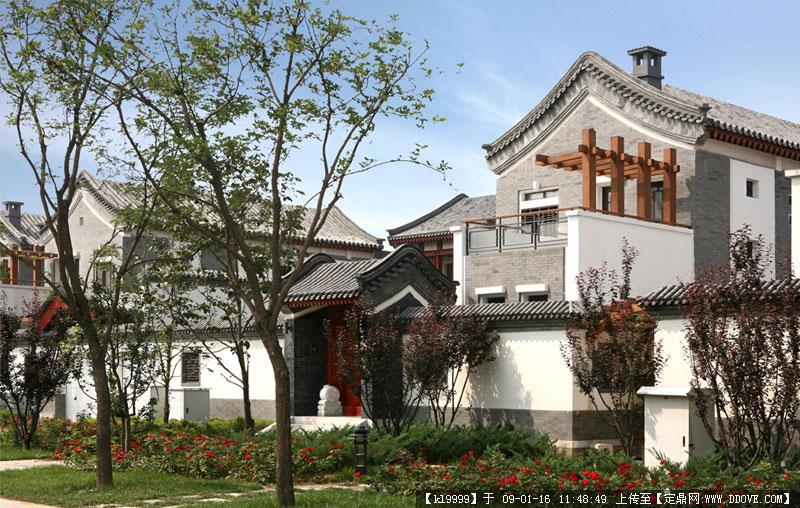 观唐中式别墅实景欣赏
