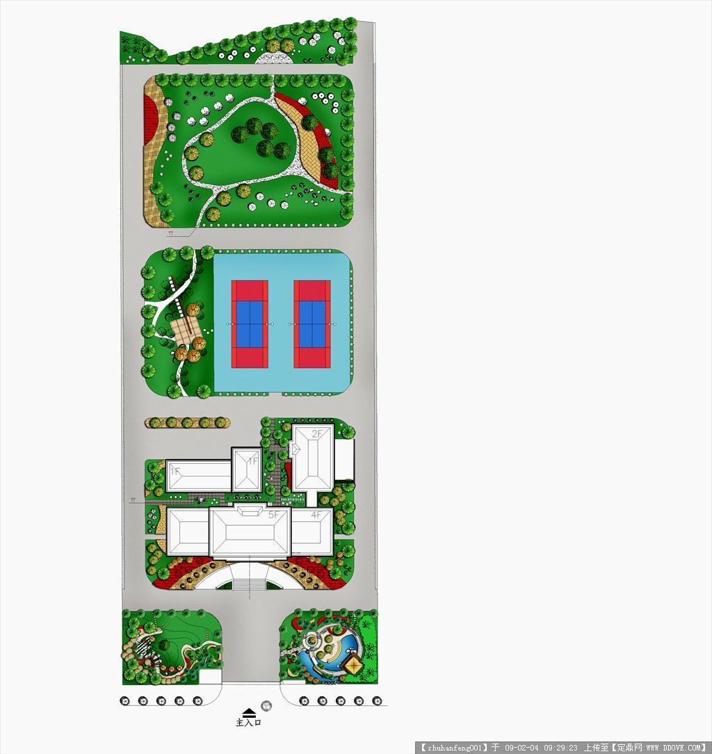 单位绿化设计平面图