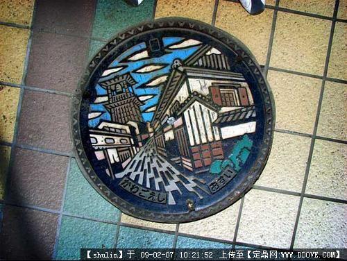 日本井盖的图片浏览,园林节点照片,井盖,园林景观设计图片