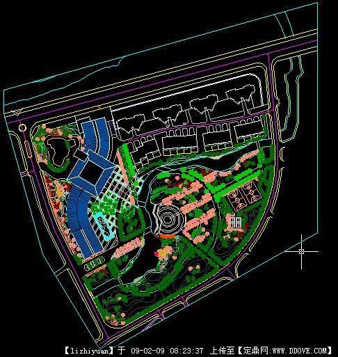 小区设计cad图的下载地址图片