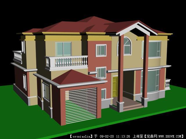 别墅 3dmax 模型的 下载 地址 高清图片