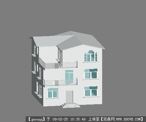 定鼎网 设计素材 三维模型 建筑模型 小别墅  2 49.211k