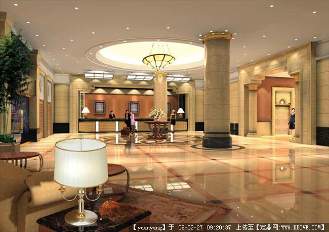定鼎网 定鼎室内 室内效 果图 酒店会所 酒店大堂装饰设计效果图