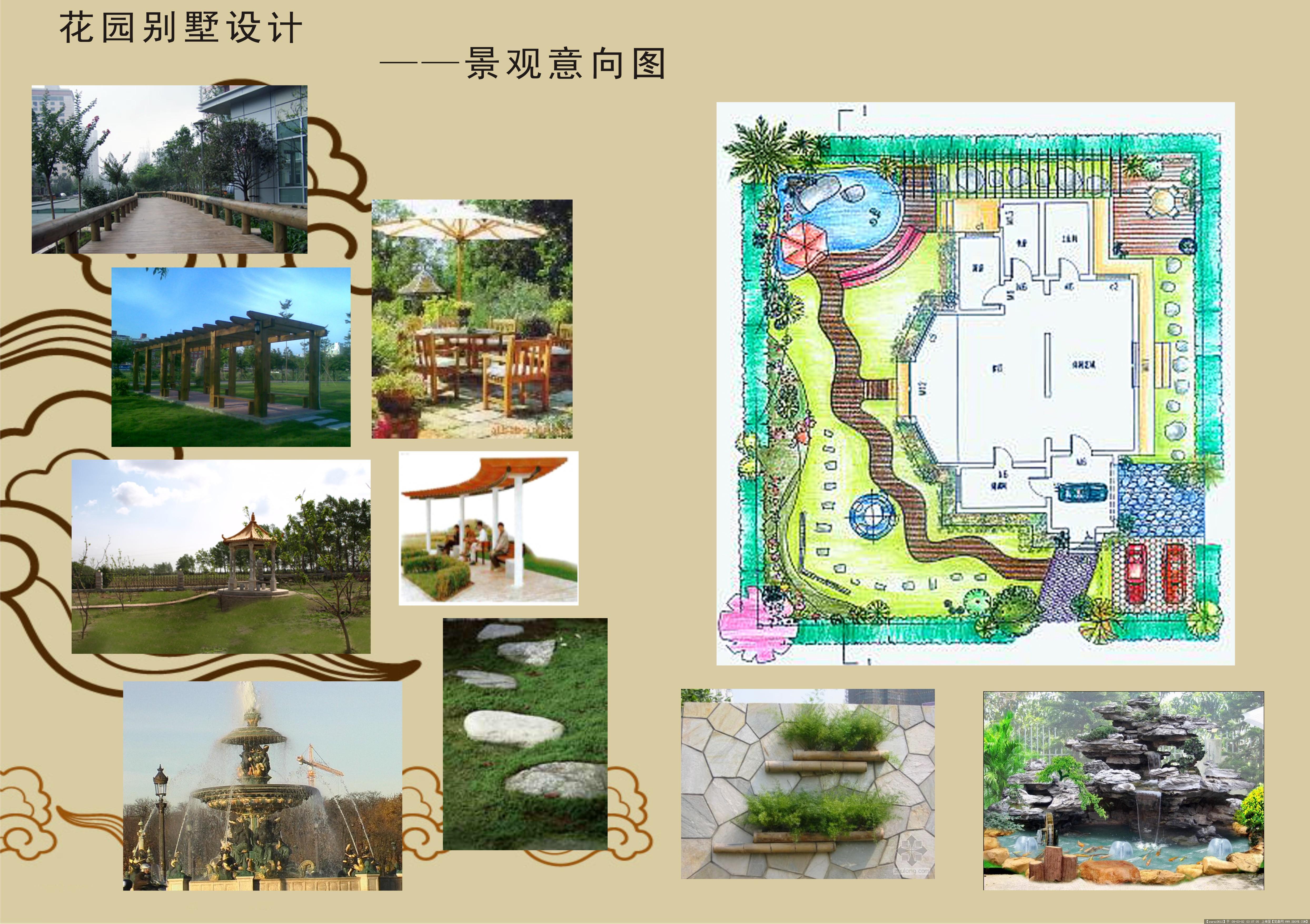 花园别墅景观设计的图片浏览,园林项目案例,花园庭院