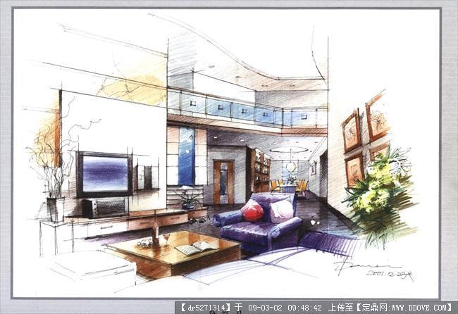 定鼎网 定鼎室内 室内效 果图 住宅样板 室内手绘