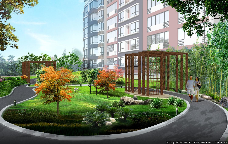 小区设计入口处景观的效果图的图片浏览