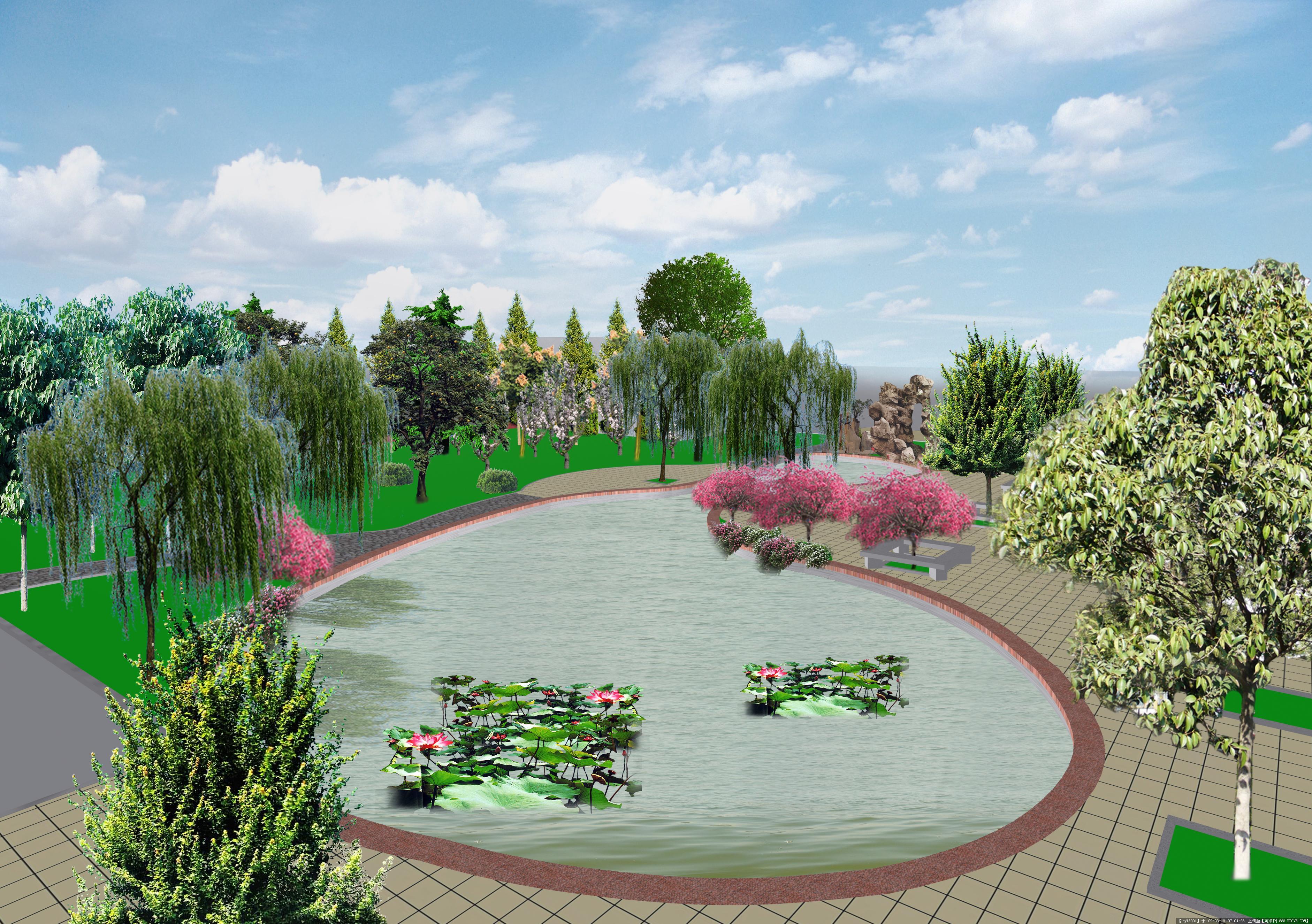 某公园景观效果图(原创)的图片浏览,园林效 果图,公园