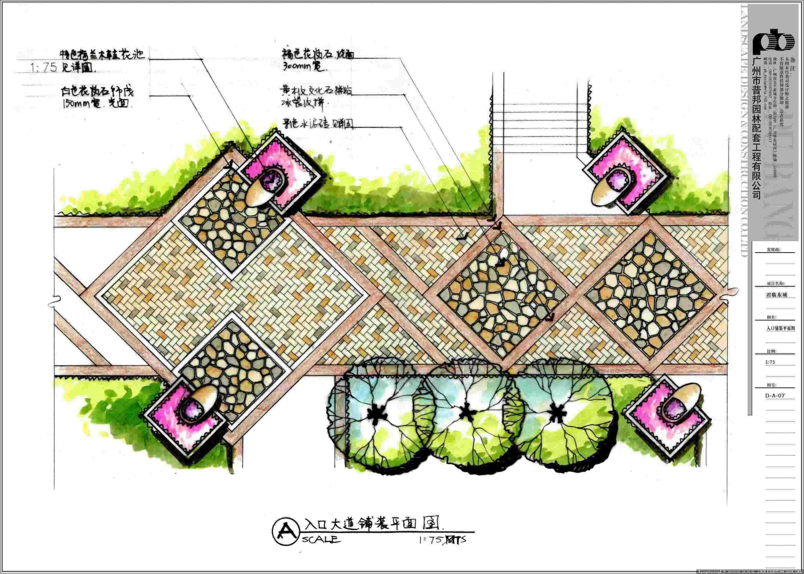 p&b君临东城景观设计; 君临东城手绘方案文本; 几个不错的景观方案-52