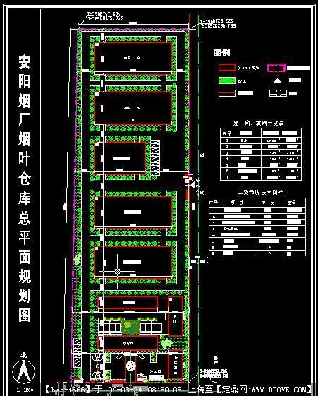 烟厂烟叶仓库规划总平面图