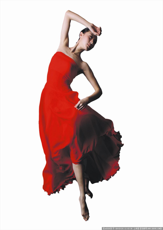 跑动的红衣美女3的下载地址,配景素材,人物素材,园林