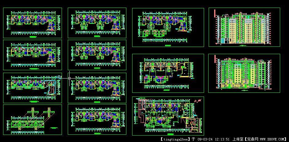 万科高层住宅楼施工图_建筑施工图纸_居住建筑,建筑设计施工图纸资料