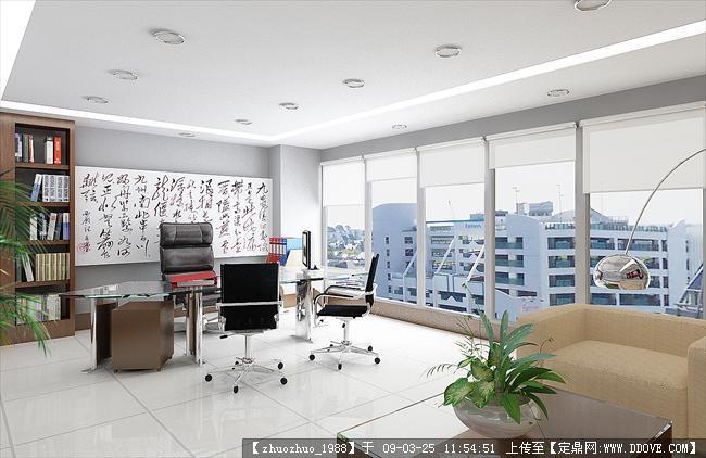 办公室设计的下载地址,室内效 果图,写字办公,室内_.