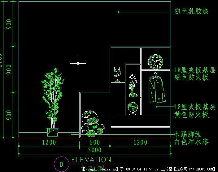 cad室内设计施工图常用图块之儿童房4