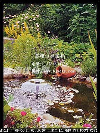 别墅庭院景观-欧式景观小品水池
