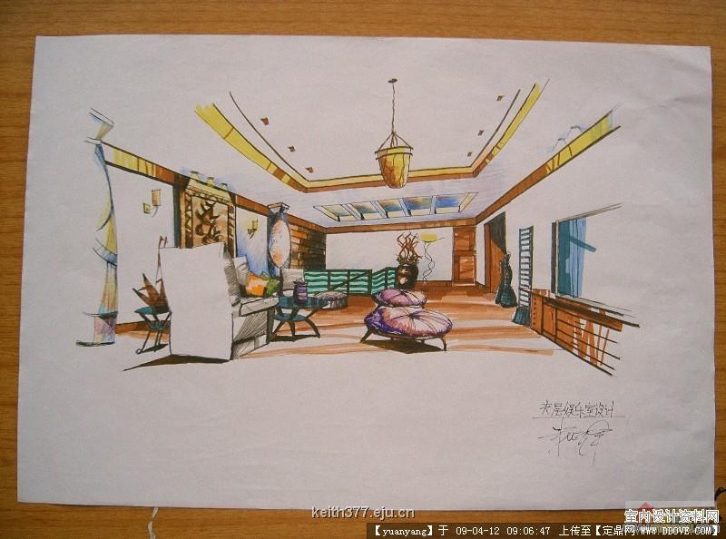 室内手绘效果图的步骤的详细内容,室内装饰设计施工