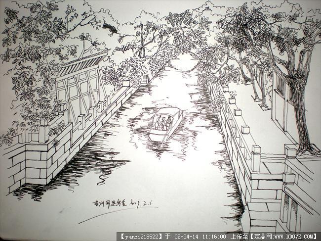 园林景观钢笔手绘图片; 风景园林钢笔画_钢笔画,建筑钢笔画图片;