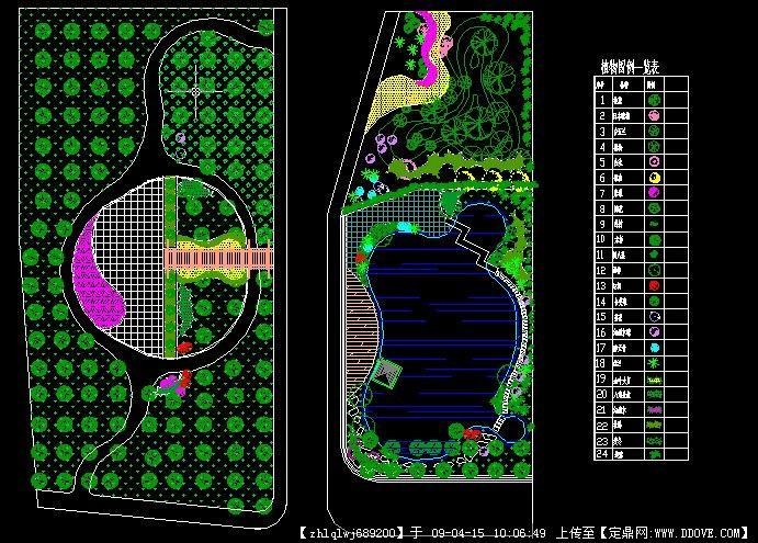 某单位水景平面及效果图; 园林水景设计平面图图片分享_效果图大全