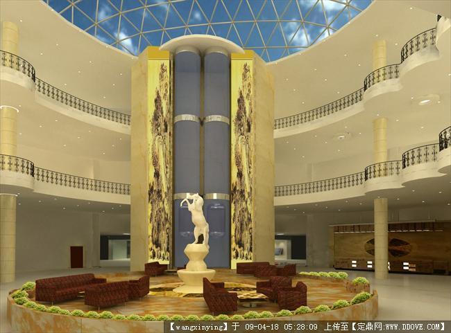 定鼎网 定鼎室内 室内方案图纸 酒店会所 宾馆三维空间设计 效果图