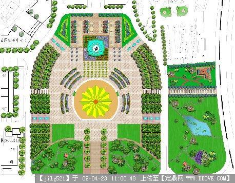 莫广场方案平面图psd的下载地址,园林方案设计,城市,.