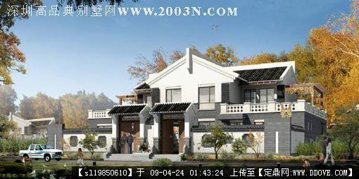 中式别墅外观效果图http://hi.baidu.图片