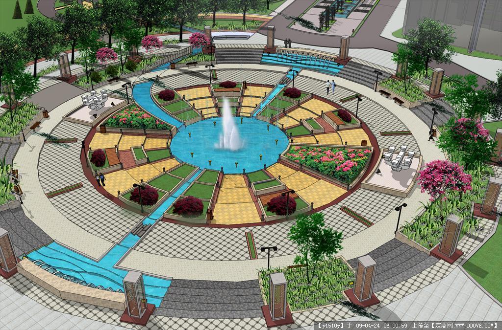 ps手绘广场铺装平面图素材