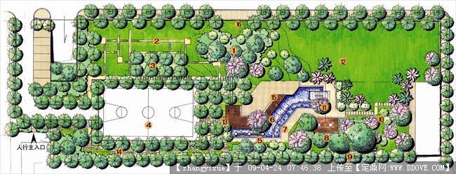 手绘园林图片-04总平面图 副本.jpg 原始尺寸:1575 * 605