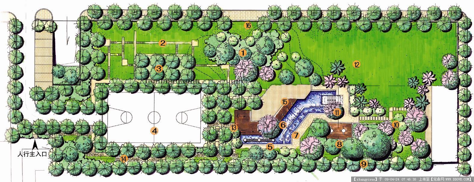 手绘园林图片-04总平面图