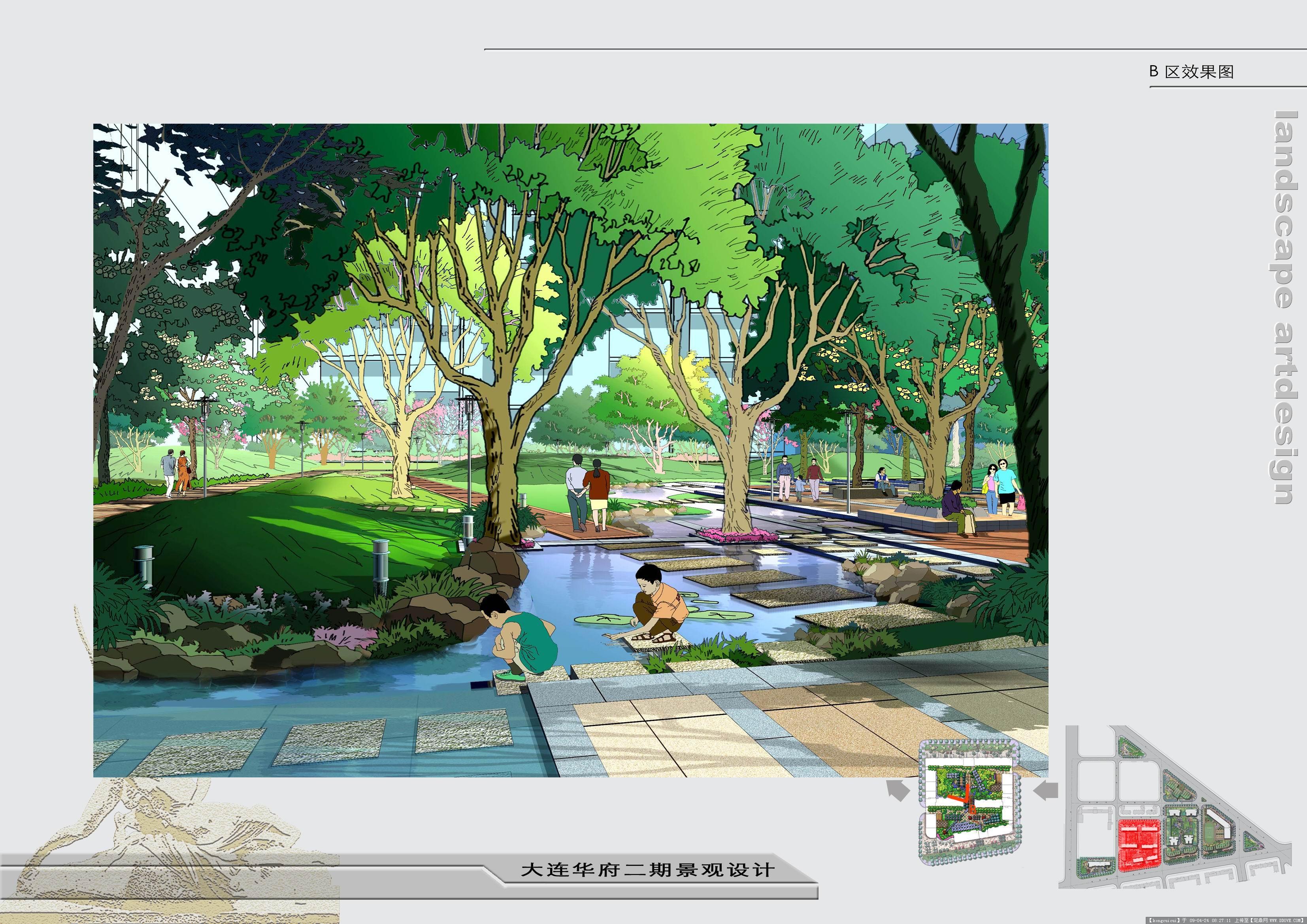 多家知名景观公司的景观手绘效果图