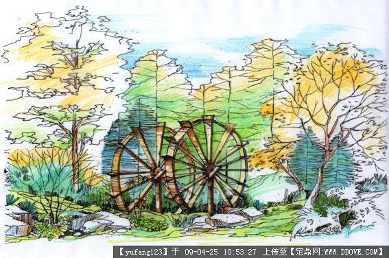 园林景观手绘作品