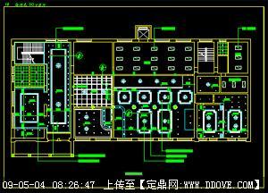 中餐厅-吊顶cad施工图图片