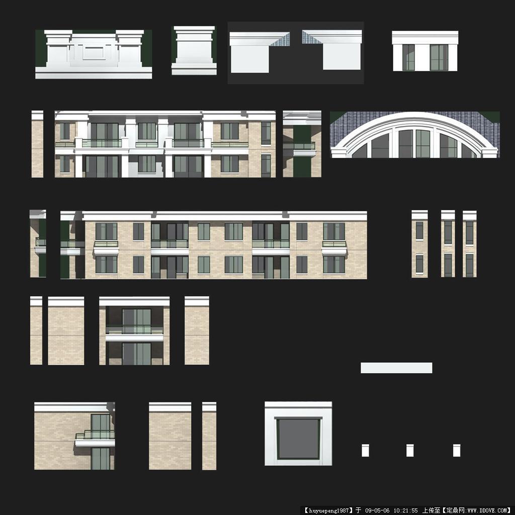 建筑立面贴图