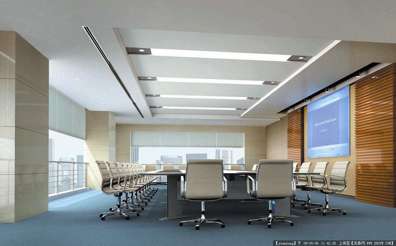 装饰设计效果图-03.小型会议室.原始尺寸:1276 * 795