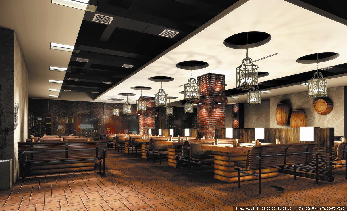自助烤肉店装修效果图; 哈尔滨东园烘烤食厅装修效果; 效果图的图片浏