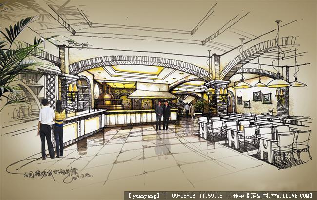 哈尔滨东园烘烤食厅装修效果图