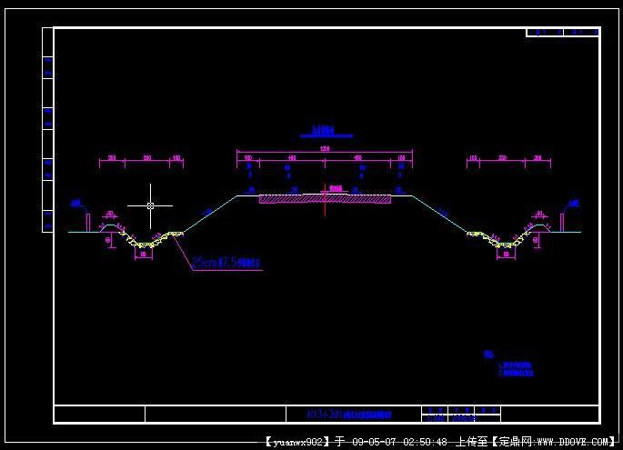 路基标准横断面图_路基标准断面构造详图