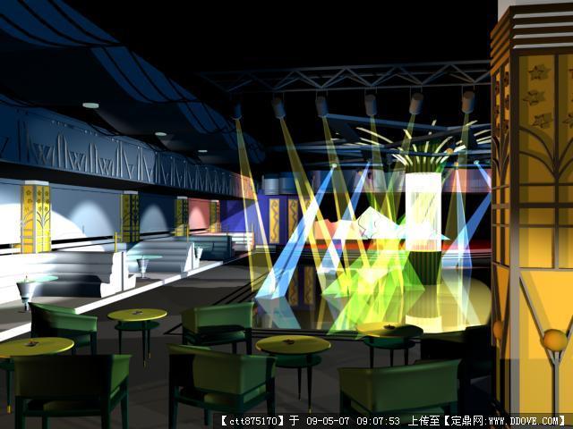 室内设计者联盟_酒吧室内装修图+3dmax效果图的下载地址,三维模型,室内模型,园林 ...