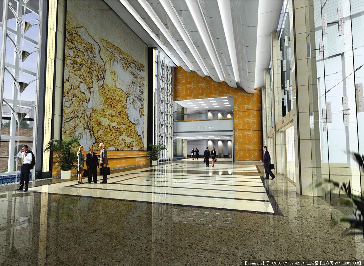 公共建筑 河南大学学术交流中心室内装修效果图
