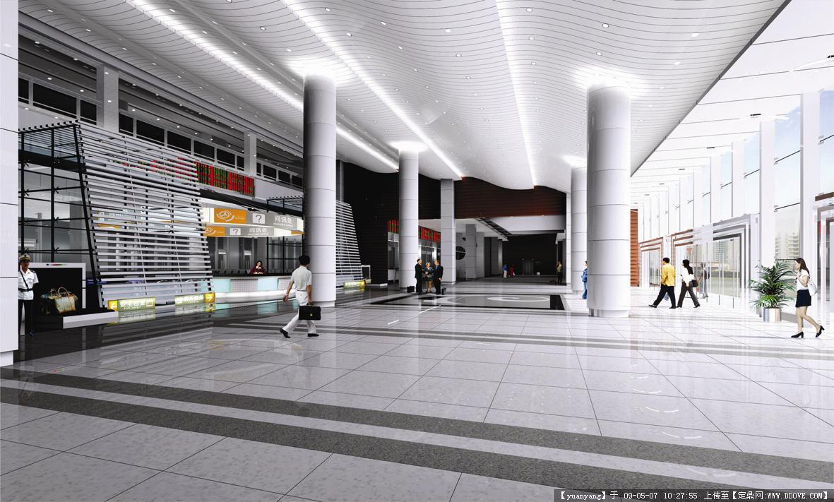 泉州汽车客运中心站装修设计方案