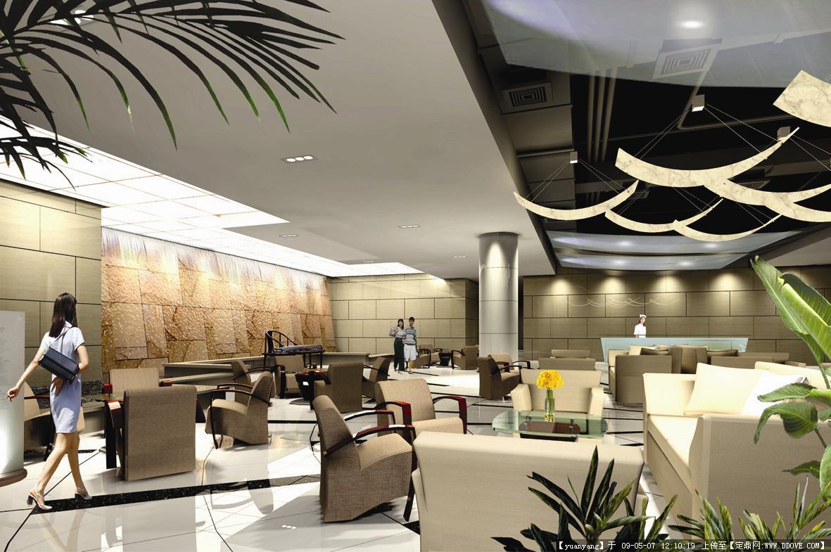 杭州某医院门诊大楼装修效果图 高清图片