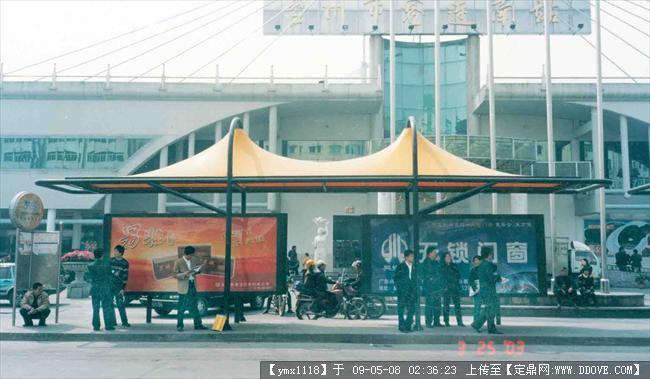 公交站台景观张拉膜结构