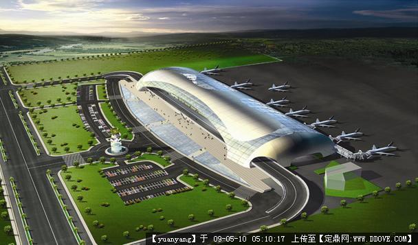 郑州新郑国际机场装饰效果图